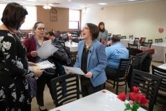 January 25, 2019: Senator Lindsey Williams tours the A.W. Beattie Career Center.