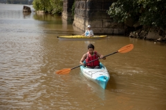 Senator Lindsey Williams and staff tour the Aspinwall Riverfront Park and Kayak Pittsburgh