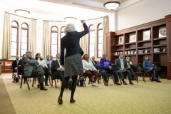 January 18, 2019:  Senator Lindsey Williams attends a breakfast with the Carnegie Library.