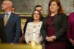 February 5. 2019: Senator Lindsey Williams attends Gov.  Tom Wolf's 2019-20 Budget Address.