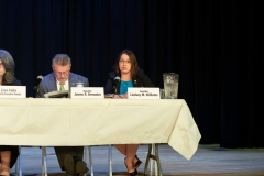 August 14, 2019: Senator Lindsey Williams attends Public Education Hearing on Charter School Funding at Everette High School.