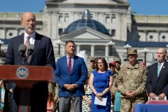 July 1, 2019: Senator Lindsey Williams joins Governor Tom Wolf as he signed a bill that will give family members of those in the Pennsylvania National Guard education opportunities. The bill will allow for free or reduced cost college education.