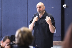 May 11, 2019: Senator Lindsey Williams  joins Lt. Gov. Fetterman during his recreational marijuana listening tour stop in the Homewood section of Pittsburgh.