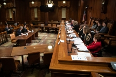 Senator Lindsey M. Williams attends a Senate Democratic Policy Committee hearing on Corporate Tax Policy.