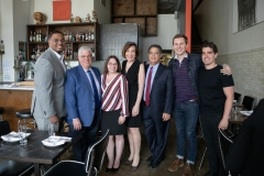 May 23, 2019: Senator Lindsey Williams visits Bar Marco in the Strip District as part of the Real Jobs, Real Pay Tour. This location was chosen because it is a perfect example of a business doing the right thing for their employees and paying a not only a minimum wage, but a living wage.