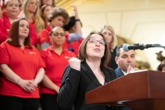 March 27, 2019: Senator Lindsey Williams celebrates Red Cross Month and Red Cross Giving Day .