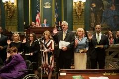 January 1, 2019: Senator Lindsey Williams is sworn  into her 1st term in the Pennsylvania State Senate.