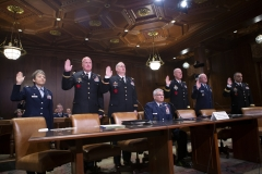 March 26, 2019: The Senate Veterans Affairs and Emergency Preparedness Committee met today to unanimously recommended Maj. Gen. Anthony Carrelli for re-appointment as Pennsylvania Adjutant General.  The committee also unanimously recommended three colonels for promotion to brigadier general and three brigadier generals to major general.  All require a Senate vote for confirmation.
