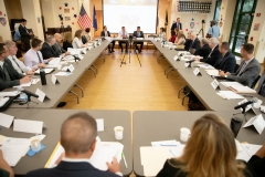 Veterans roundtableSeptember 3, 2019; Senator Williams participates in Veterans' Roundtable discussion on suicide prevention.