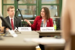 Veterans roundSeptember 3, 2019; Senator Williams participates in Veterans' Roundtable discussion on suicide prevention. table