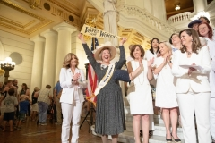 June 24, 2019: Senator Lindsey Williams joins colleagues in marking the 100th Anniversary of Women's Suffrage.