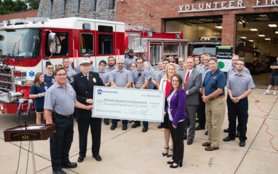 Senator Lindsey Williams Joins State Fire Commissioner in Presenting $200,000 Check to Elfinwild Volunteer Fire Company