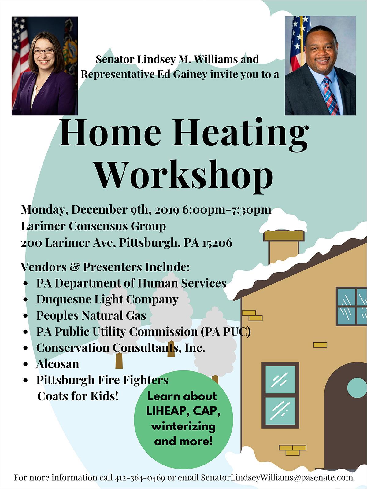 Home Heating Workshop - December 9, 2019