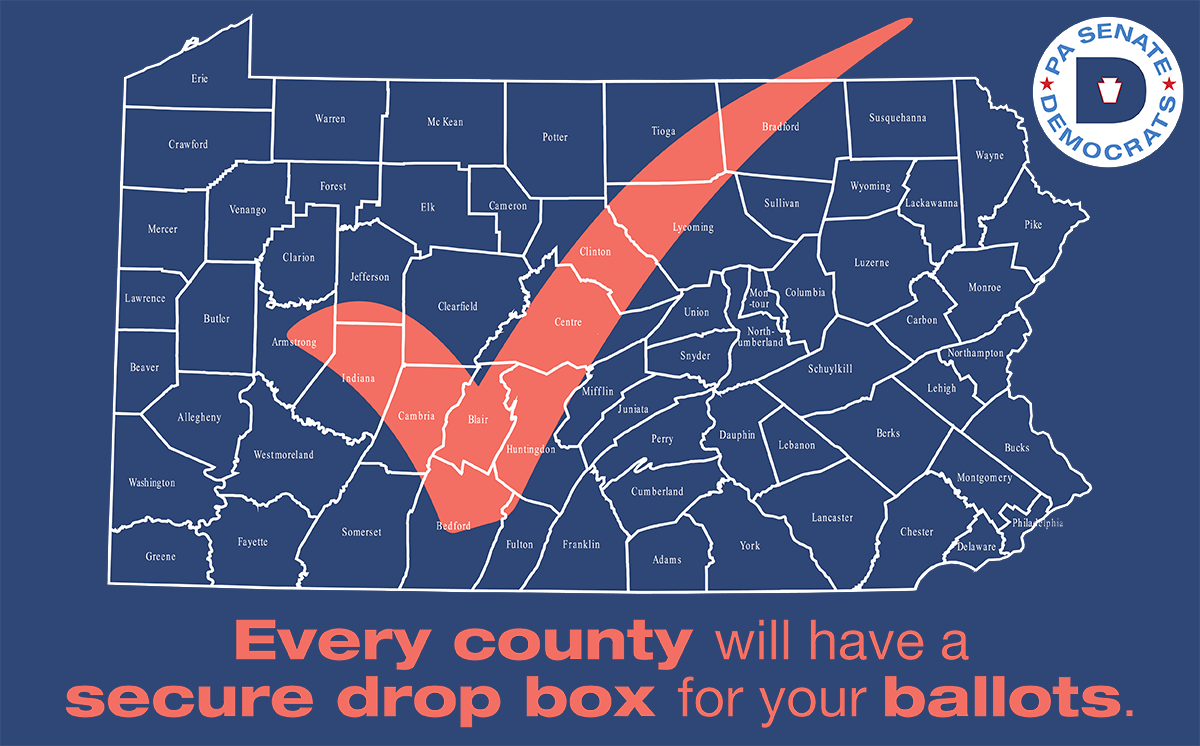 Every county will have a secure drop box for your ballots.