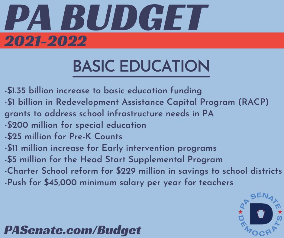PA Budget 2021-2022 - Education