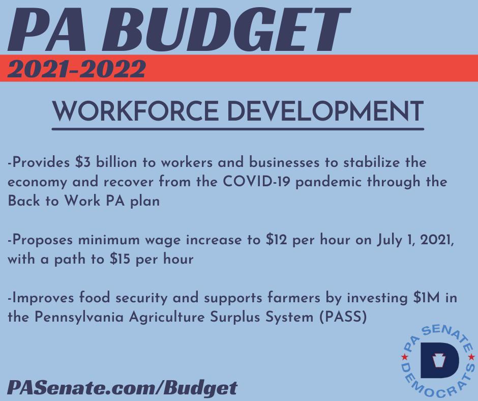 PA Budget 2021-2022 - Workforce Development