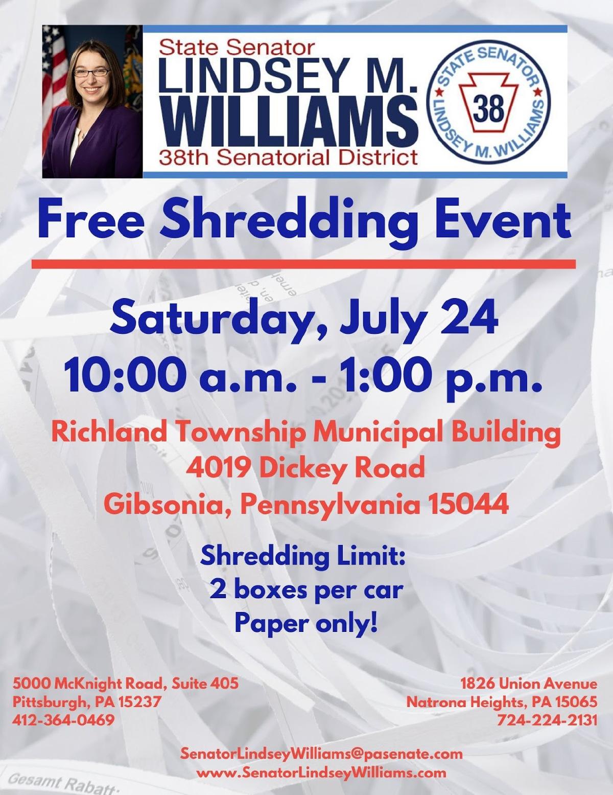 Shredding Event - July 24, 2021