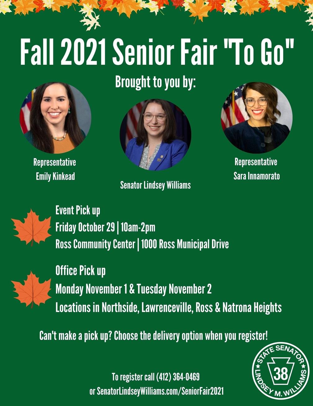 Fall Senior Fair to Go!