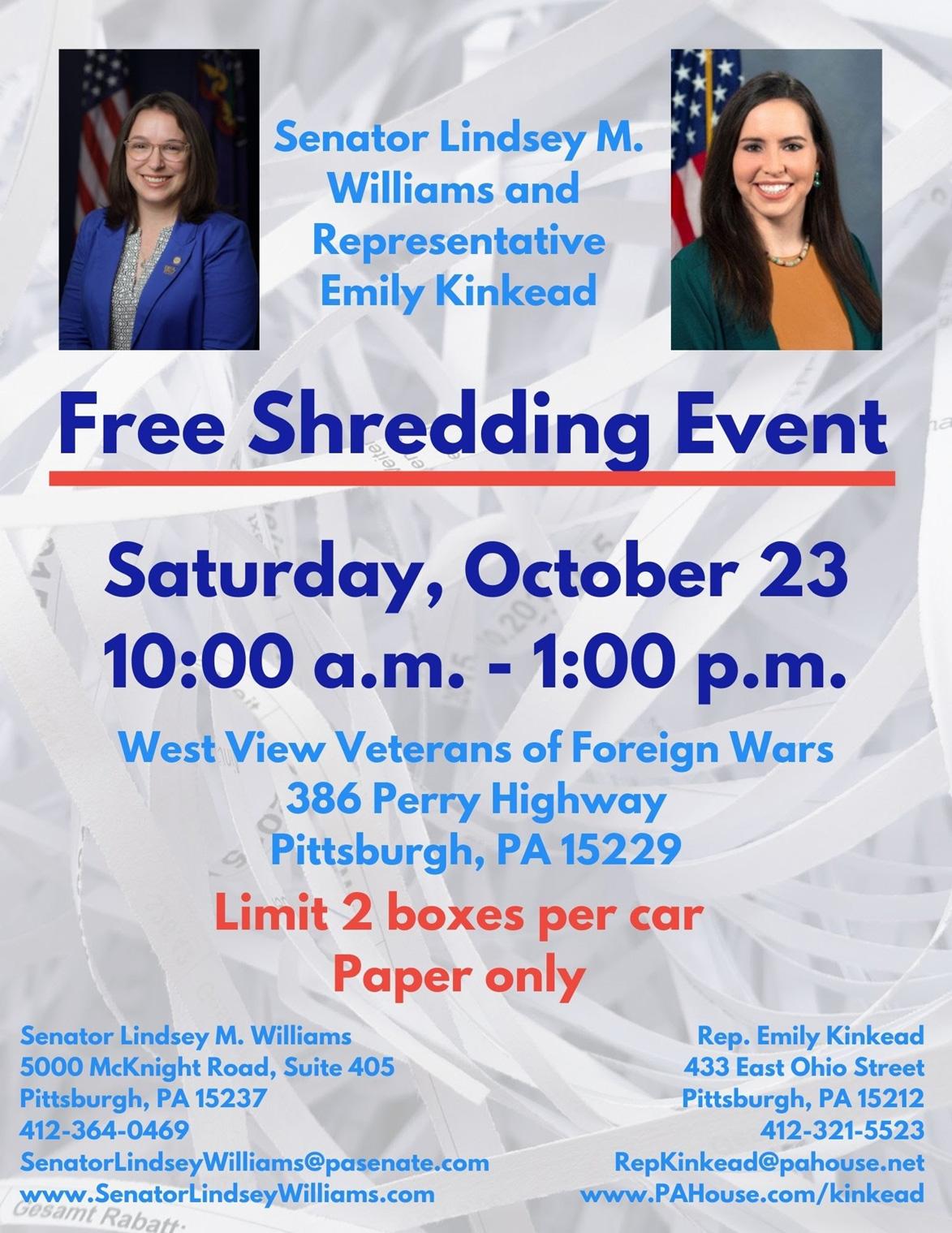 Shredding Event - October 23